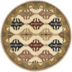 Hand-tufted Cambria Wool Rug (6' Round) - Thumbnail 2