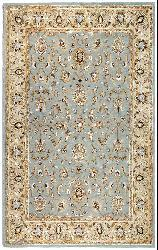 Hand-tufted Aqua Waterford Wool Rug (8' x 11') - Thumbnail 2