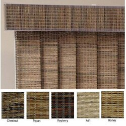 "Vertical Blinds - Edinborough 3 1/2"" Free-Hang Fabric (96 Inches Wide x 5 Custom Lengths) with Valan"