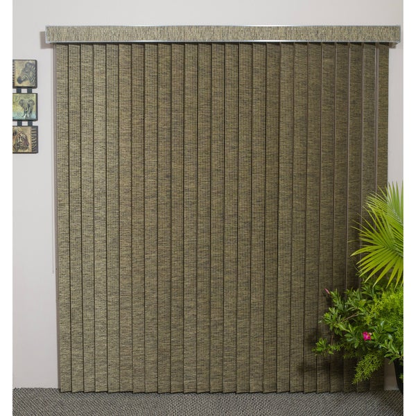 "Vertical Blinds - Edinborough 3 1/2"" Free-Hang Fabric (98 Inches Wide x 5 Custom Lengths) with Valan"