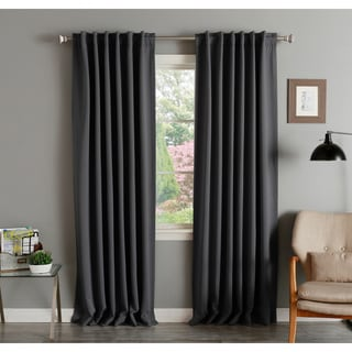 Aurora Home Solid Thermal Insulated 108-inch Blackout Curtain Panel Pair - 52 x 108