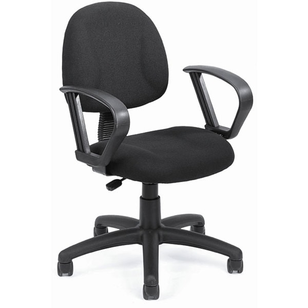 Boss Black Mid-back Ergonomic Task Chair. Opens flyout.