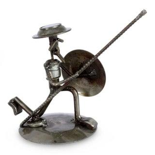 Recycled Auto Parts 'Quixote in Love' Statuette