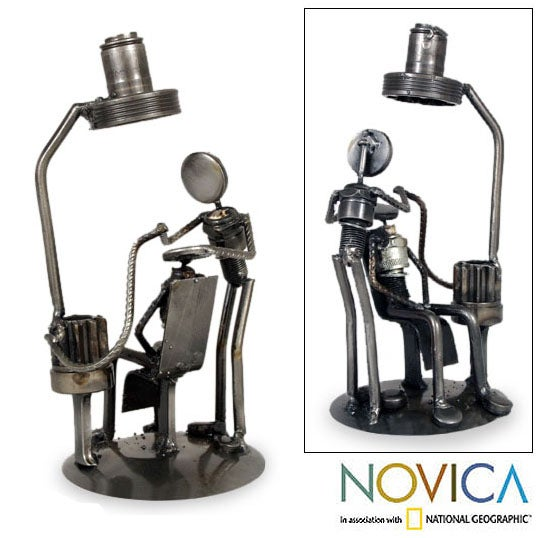 Handmade Recycled Auto Parts 'Rustic Root Canal' Statuette (Mexico)
