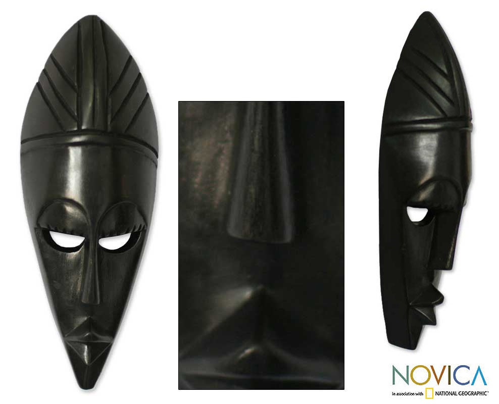 Sese Wood 'Prudence' Ghanaian Mask (Ghana)