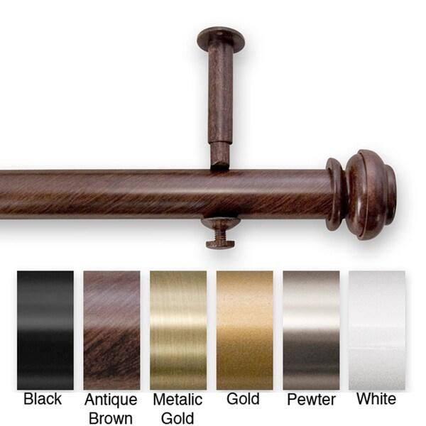 Bold Pole 48 to 86-inch Adjustable Curtain Rod Set