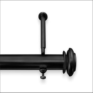 Bold Metal Pole 48-inch to 86-inch Adjustable Curtain Rod Set (Option: Black)