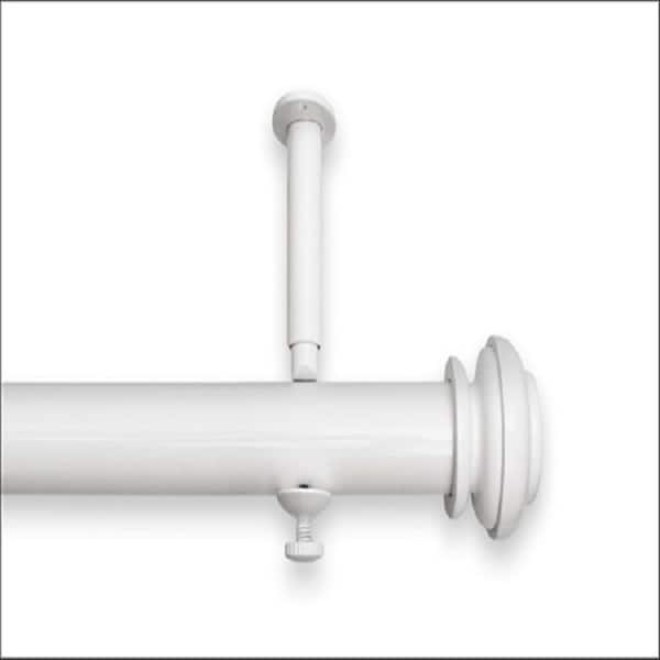 Pewter Source Global Bold Pole Double Rod Set 48 by 74-Inch
