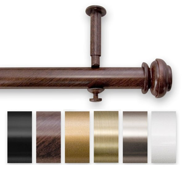 Bold Pole 90 to 144-inch Adjustable Curtain Rod Set