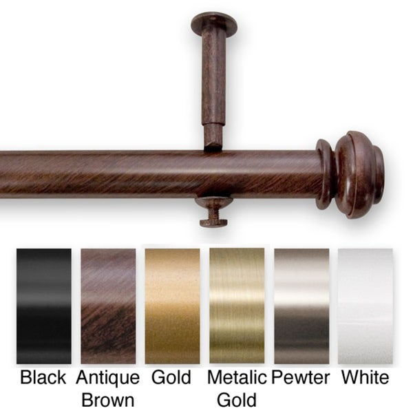 Bold Pole 90 To 144 Inch Adjustable Curtain Rod Set   144   Free Shipping  Today   Overstock.com   12217487