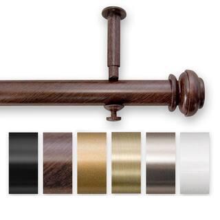 Bold Pole 90 to 144-inch Adjustable Curtain Rod Set - 144