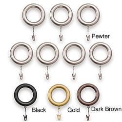 Bold Pole Curtain Rod Rings (Set of 7)