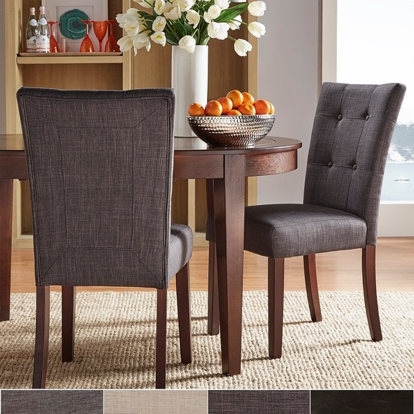TRIBECCA HOME Hutton Faux Leather Upholstered Dining Chairs (Set of 2)