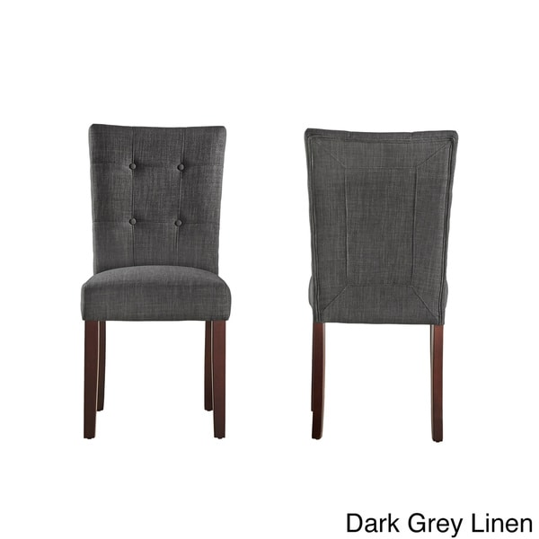 Hutton Upholstered Dining Chairs  Set of 2  by iNSPIRE Q Classic   Free  Shipping Today   Overstock com   12218094Hutton Upholstered Dining Chairs  Set of 2  by iNSPIRE Q Classic  . Grey Upholstered Dining Chairs. Home Design Ideas