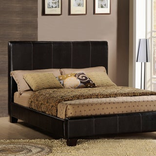 TRIBECCA HOME Tuscany Villa Full-Sized Espresso Upholstered Bed