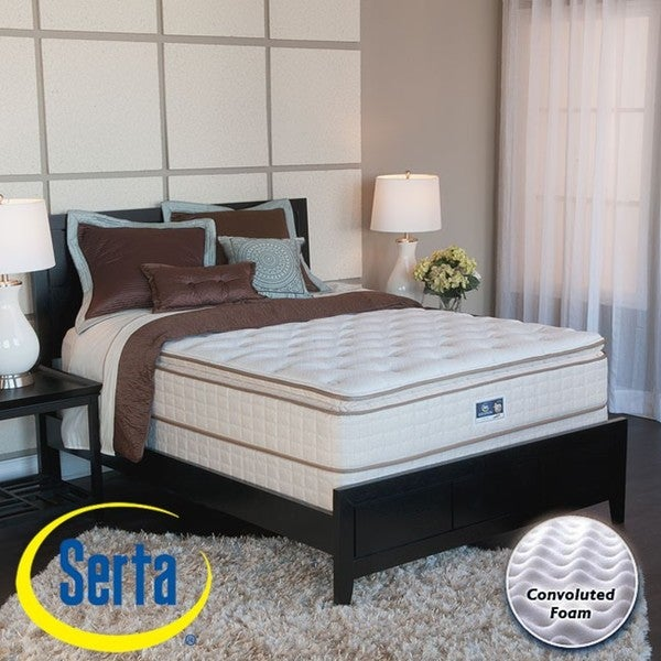 serta bristol way pillowtop fullsize mattress and box spring set