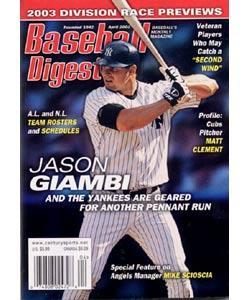 Baseball Digest, 8 issues for 1 year(s)
