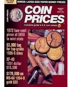 Coin Prices, 6 issues for 1 year(s)
