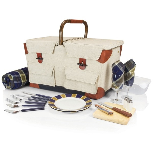 Picnic Time Pioneer Deluxe Picnic Basket