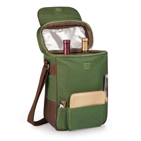 Picnic Time 'Duet' Pine Green Wine and Cheese Tote