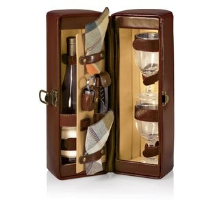 Picnic Time Harmony Mahogany Wine Case