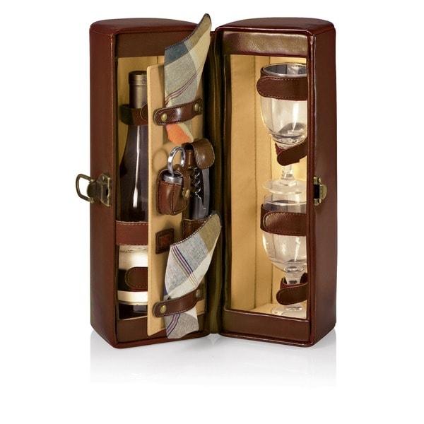 Picnic Time Harmony Mahogany Wine Case