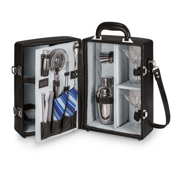 Picnic Time Black Manhattan Cocktail Case