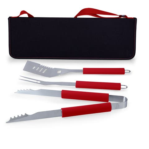 Picnic Time Metro Red Barbeque Tool Tote