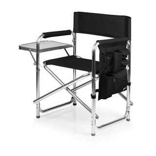 Picnic Time Portable Black Sports Chair