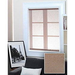 Chicology Roller Shade Clutch Lift System Continous Loop Sheer Fabric Lydia Nougat Brown (23-inch x 72-inch )