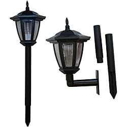 Tricod Ground/ Wall Mount Solar Lights (Pack of 2)