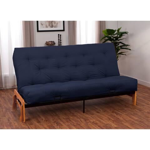 Porch & Den Shotwell St Queen Armless Futon Frame/ Premier Mattress Set Sleeper Bed