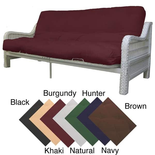 Wicker Frame And Premier Mattress Futon