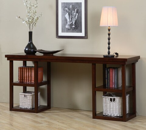 Stones & Stripes Walnut Cherry Ladder Console Table