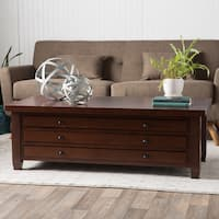 Stones & Stripes Walnut Cherry Navigator Coffee Table