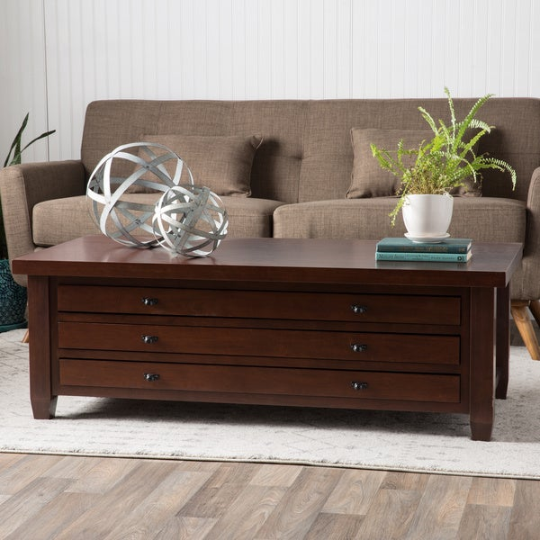 Walnut Cherry Navigator Coffee Table