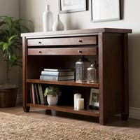 Stones & Stripes Walnut Cherry Navigator Console Table
