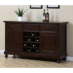 Halifax Brown Wine Rack Buffet Table