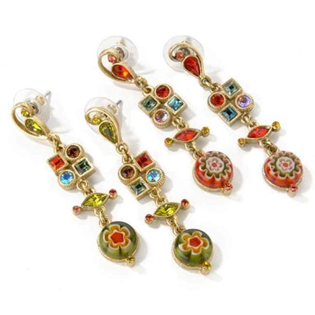 Sweet Romance Retro Candy Glass Earrings