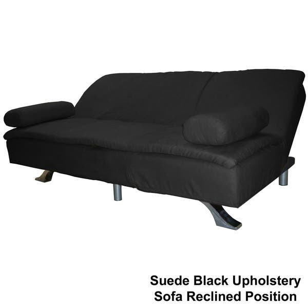 Cool Shop Mystic Microfiber Suede Click Clack Futon Sofa Bed Caraccident5 Cool Chair Designs And Ideas Caraccident5Info