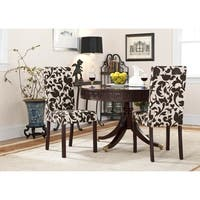 Safavieh Hutchinson Upholstered Creme Chair (Set of 2)