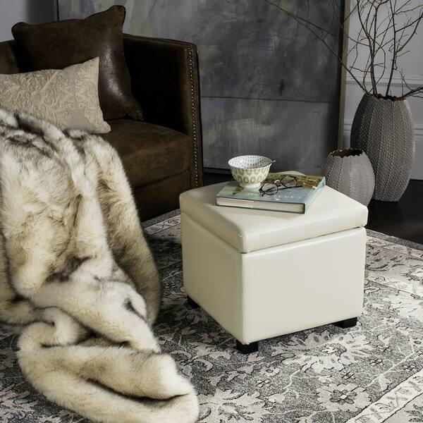 Astonishing Shop Safavieh Jonathan Storage Off White Flip Top Ottoman Andrewgaddart Wooden Chair Designs For Living Room Andrewgaddartcom