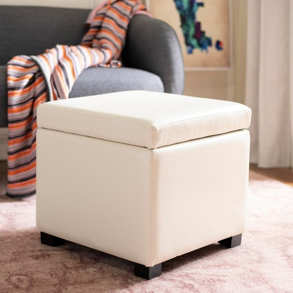 Fine Shop Safavieh Jonathan Storage Off White Flip Top Ottoman Andrewgaddart Wooden Chair Designs For Living Room Andrewgaddartcom