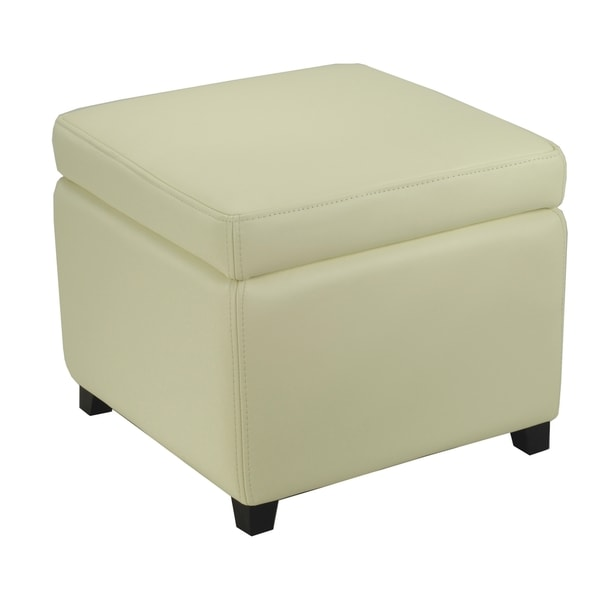 Safavieh Jonathan Storage Off White Flip-top Ottoman