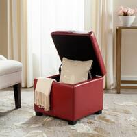 Safavieh Jonathan Red Flip-top Ottoman
