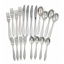 Ginkgo Fontur Satin 18/10 Stainless 20-piece Place Setting
