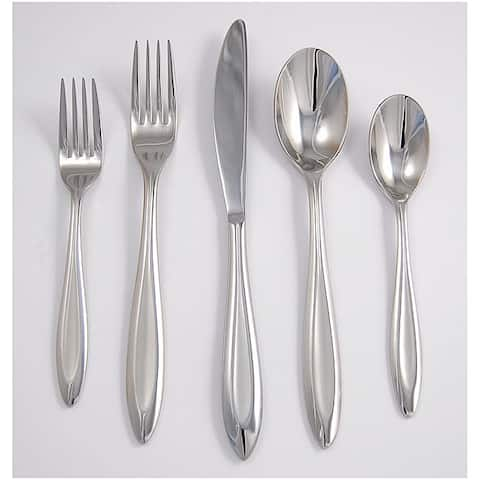 Ginkgo Fontur Satin Stainless Steel 5-piece Place Setting