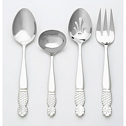 Ginkgo Pineapple Stainless Steel 4-piece Hostess Set