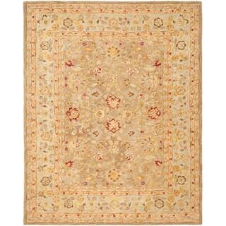 Safavieh Handmade Anatolia Oriental Tan/ Ivory Hand-spun Wool Rug (12' x 15')