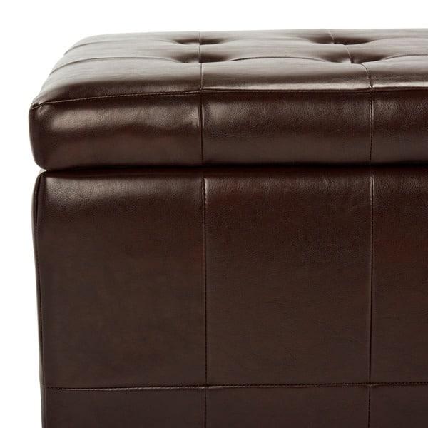Fine Shop Safavieh Large Cordovan Manhattan Storage Bench 48 X Beatyapartments Chair Design Images Beatyapartmentscom